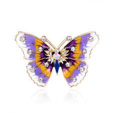 Plated Butterfly Brooch Pins Colorful Gift Females' New Party Jewelry Kc Gold