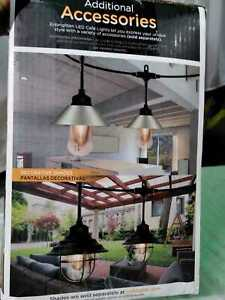 12-Bulb 24 ft. Vintage Cafe Integrated LED String Lights, Black by Enbrighten