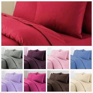 Duvet Cover Set With Pillow Cases  Non Iron Polycotton Percal