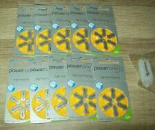 PowerOne Size 10 p10 Hearing Aid Battery - 60 Batteries - (PR70)