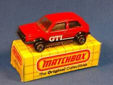 1983 Matchbox #33 Red VW Volkswagen Golf GTI & Original Box-NEAR Mint! F6