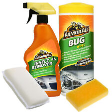 ArmorAll 4pc Insect Bug Tar Car PAINTWORK Stain Remover Cleaner Wipes Sponge Set