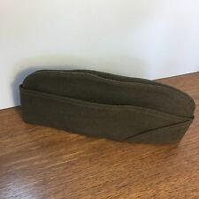 WW2 US Wool Garrison Hat Cap Size 6 7/8 Durable Uniform Green Cap