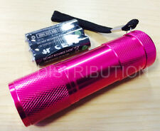 Torch 9 LED Metal in Pink for Police,PCSO, Security, Ambulance, Paramedic
