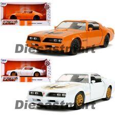 Jada 1:24 Big Time Muscle 1977 Pontiac Firebird Orange / White Diecast Model