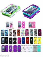 For Apple iPod Touch 6th Gen ShockProof Hybrid Rubber Protective Hard Case Cover