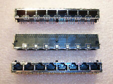 Qty (10) 8 Port 8 Position 8P8C R/A Shielded Modular Telephone Jack 406560-2 Amp