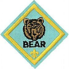 Cub Scout BEAR RANK Merit Badge Patch - Boy Scout BSA