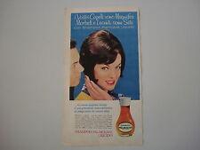 advertising Pubblicità 1963 SHAMPOO PALMOLIVE