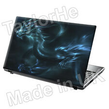 "15.6"" Laptop Skin Sticker Blue Dragon Water Cool 60"