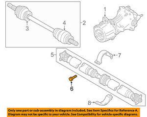 NISSAN OEM 15-18 Murano Axle Differential-Rear-Drive Shaft Bolt 37120JD00B