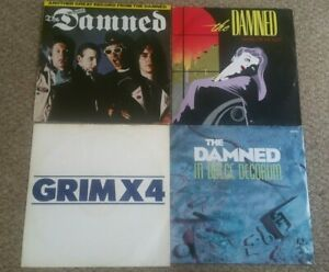 """The Damned Vinyl 12"""" , LP collection."""
