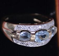 Aquamarinring 585er Goldring Brillant Gold Ring 14 Karat Diamanten Geldgold