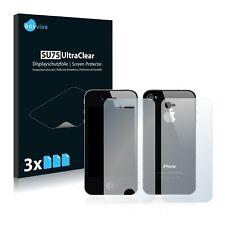 6x Displayschutzfolie Apple iPhone 4 (Vorder + Rückseite) Schutzfolie Klar