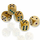 Large 25mm Wooden Dice Six Sided Spot Dice D6 RPG for Board Games