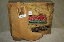 MENS LAREDO NATURAL SUEDE COWBOY BOOTS 68216 US SIZE 10 (B29)