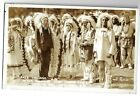 1927 Calvin Coolidge Chief Leading Eagle In Indian Headress Days of '76 Postcard