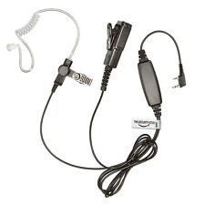 Kenwood Radio Earpiece (Large PTT / Two Wire / Heavy Duty Kevlar Headset)
