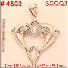 4503 925 SILVER CHARM DOLPHIN HEART  LOVE JEWELRY OCEAN S Jewelry seaworld show