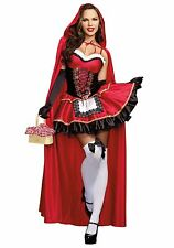 Red Christmas Costume Little Red Riding Hood Fairytale Cosplay Fancy Dress 6-14