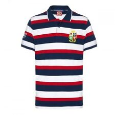 British & Irish Lions Rugby Men's Hoop S/S Polo Shirt - Small - Multi - New