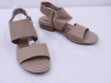 Sofft Womens 8 Brown Nubuck Leather Side Zip Slingback Gladiator Sandals Shoes