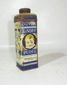 Ancienne Boite de Conserve NIVEA Poudre Bébé Nr.379E