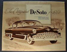 1953 DeSoto Sales Brochure Folder Fire Dome Powermaster Excellent Original 53