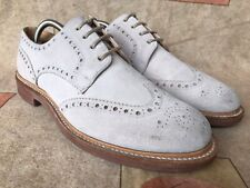 Church's Sport Ivory Bone Suede Brogues Leather Shoes Soles Sz UK 9.5 | US 10.5