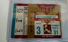 Rare 1953 Minnesota Gophers Vs Pittsburgh Panthers Football Ticket Stub Rare