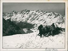 France, 1940, Rocher Blanc  Vintage silver print.  Tirage argentique d'ép