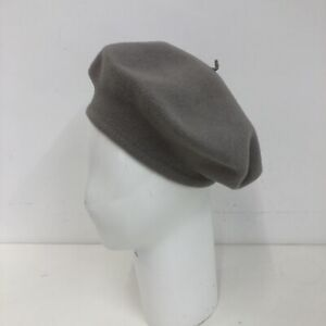 Kangol 100% Virgin Wool Beret Hat Grey