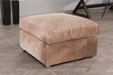 New Bajna Jumbo Cord Coffee Fabric Footstool Pouffe Ottoman Stool Beautiful Soft