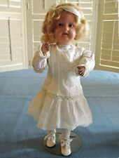 "Antique 14"" Schoenhut Girl DOLL 1911 Jointed Wood Blonde Hand Painted Original"