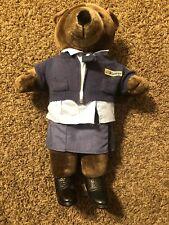 "1986 Patriot Bear U.S. Mail letter carrier  Plush 20"" USPS JJ Wind Lady Bear"