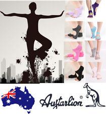 AU Women Fashion Yoga Socks Dance Pilates Socks Toeless Non Slip Skid With Grips