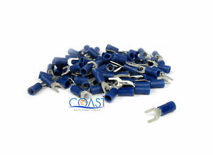 Blue Space Ring Terminals 16-14 Gauge # 8 ST8B - 100 pcs