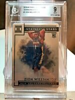 2019-20 Panini Impeccable Zion Williamson /99 Stainless Stars Silver Prizm BGS 9