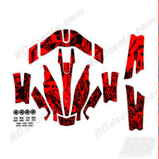 Traxxas Aton Plus Body Wrap Decal Skin Sticker Canopy Grafitti Red