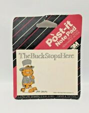 NOS Vintage Garfield 1976 3M Post-It Notes 'The Buck Stops Here'