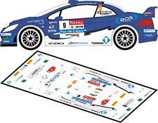 DECALS 1/43 PEUGEOT 307 WRC #9 - BAUD - RALLYE DU TOUQUET 2012 - MFZ D43163