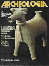 ARCHEOLOGIA /// 01-1980 abbaye SAUVE-MAJEURE, HUARTE, céramique COPTE, BRUXELLES