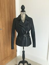 River Island Leather style biker Jacket, black Size 10 good condition