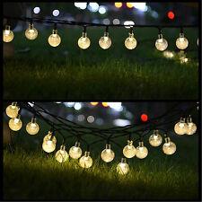 Luces solares del jardín Hadas 30 Bombillas LED Bola de Cristal Decoración de jardín Art Deco