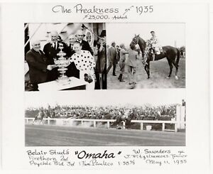"""1935 - OMAHA - 3 Photo Preakness Stakes Composite #1 - 10"""" x 8"""""""