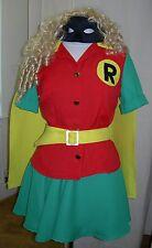 Sexy Lady Robin Ex Hire Sale Comic Book Week Fancy Dress Costume P10108