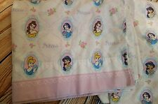 Vintage Disney Princess Bed Sheets Twin Size Cinderella Belle Jasmine Snow White