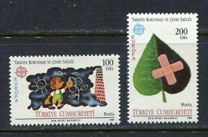 31139) TURKEY 1986 MNH** Europe 2v. Scott# 2345/46