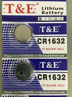 2X CR1632 DL1632 3V Lithium Coin Cell Button Battery 1632 Batteries US Free ship