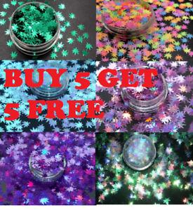 Buy 5 Get 5 FREE Sequins Glitter Nail Art Craft Slime Filler Festival Make Up